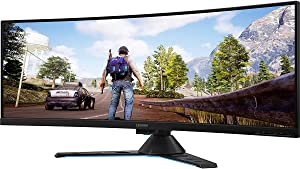 "Lenovo Legion Y44w-10 43.4"" DWUXGA Curved Screen WLED Gaming LCD Monitor - 32:10 - Raven, Black - NearEdgeless - 3840 x 1200-16.7 Million Colors - FreeSync 2-450 Nit - 4 ms GTG (OD) - 120 Hz"