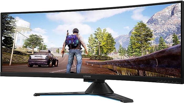 "Lenovo Legion Y44w-10 43.4"" DWUXGA Curved Screen WLED Gaming LCD Monitor - 32:10 - Raven, Black - NearEdgeless - 3840 x 1200-16.7 Million Colors - FreeSync 2-450 Nit - 4 ms GTG (OD) - 120 Hz"