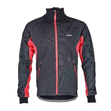 Anself de manga larga aleatoria ARSUXEO hombres Fleece térmico Chaqueta cortavientos bicicleta ciclismo bicicleta abrigo vestir malla de lluvia y viento ...