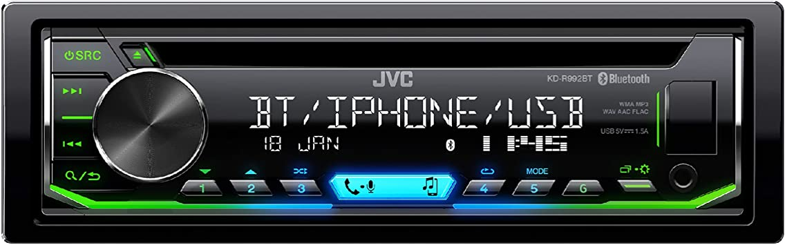 Jvc Kd R992bt Cd Receiver Mit Bluetooth Freisprechfunktion Und Audiostreaming Schwarz Navigation