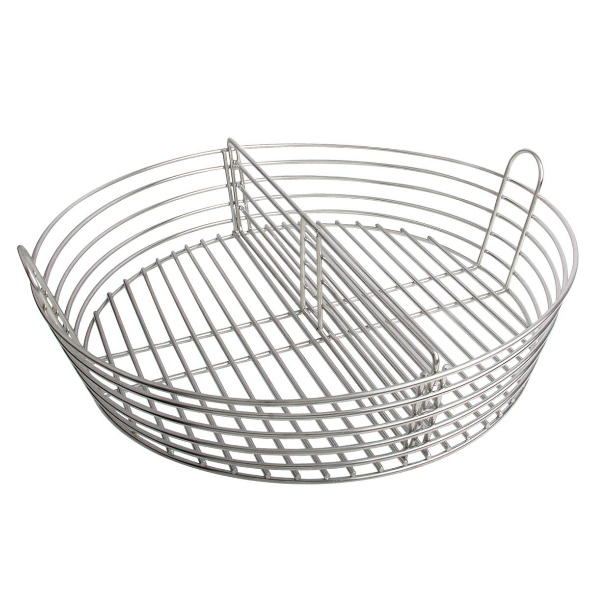 KAMaster Stainless Steel Charcoal Ash Basket for XLarge Big Green Egg,Lump Charcoal Fire Basket with Divider Perfect Accessories Instead Fire Grate by KAMaster