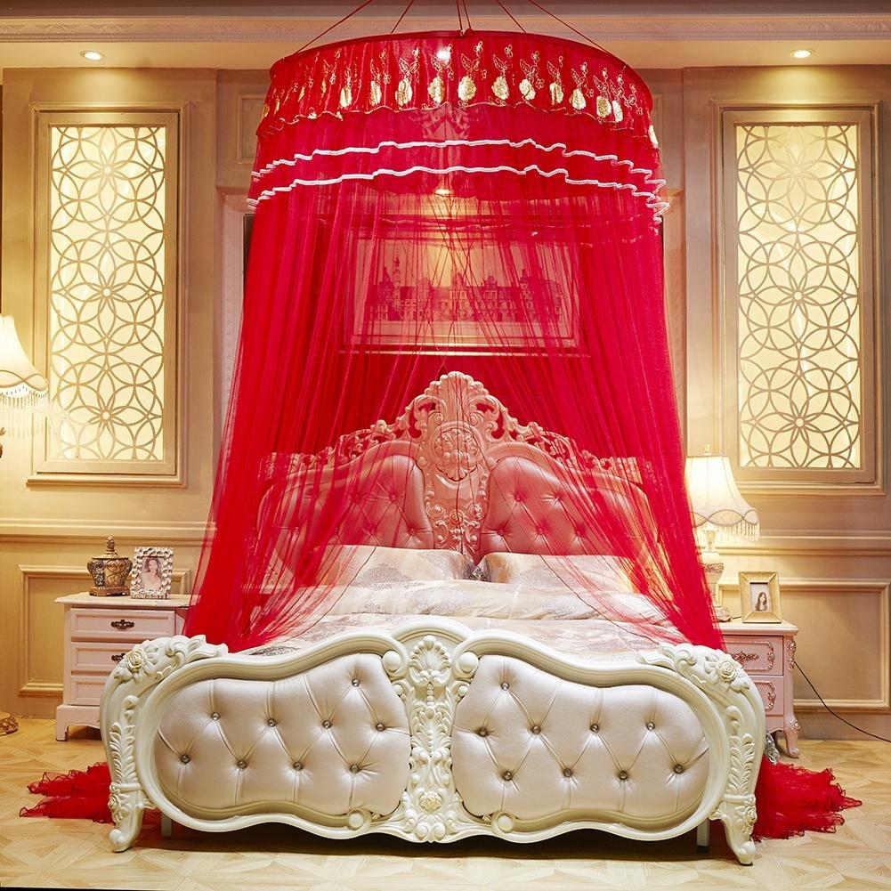 Plafond de dôme Bébé Moustiquaire Grande taille baldaquin ciel de lit pour lit double Intensification Maille dense Filet de lit moustiquaire 无