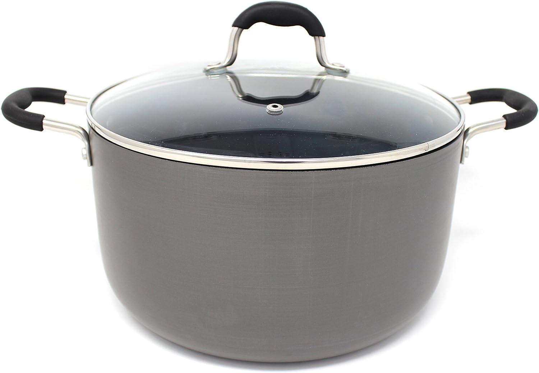 CONCORD Hard Anodized Non Stick Dutch Oven Casserole Pot (6 Quart)
