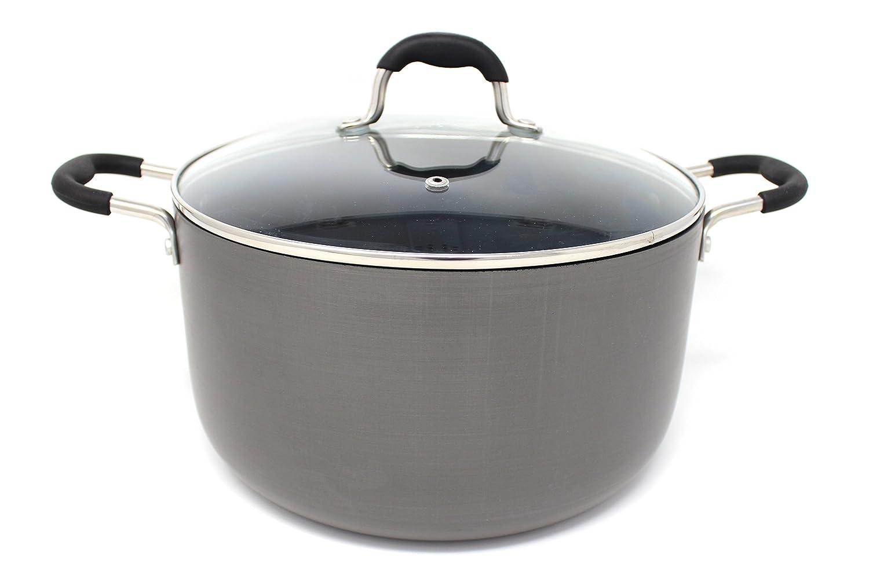CONCORD Hard Anodized Non Stick Dutch Oven Casserole Pot (8 Quart)