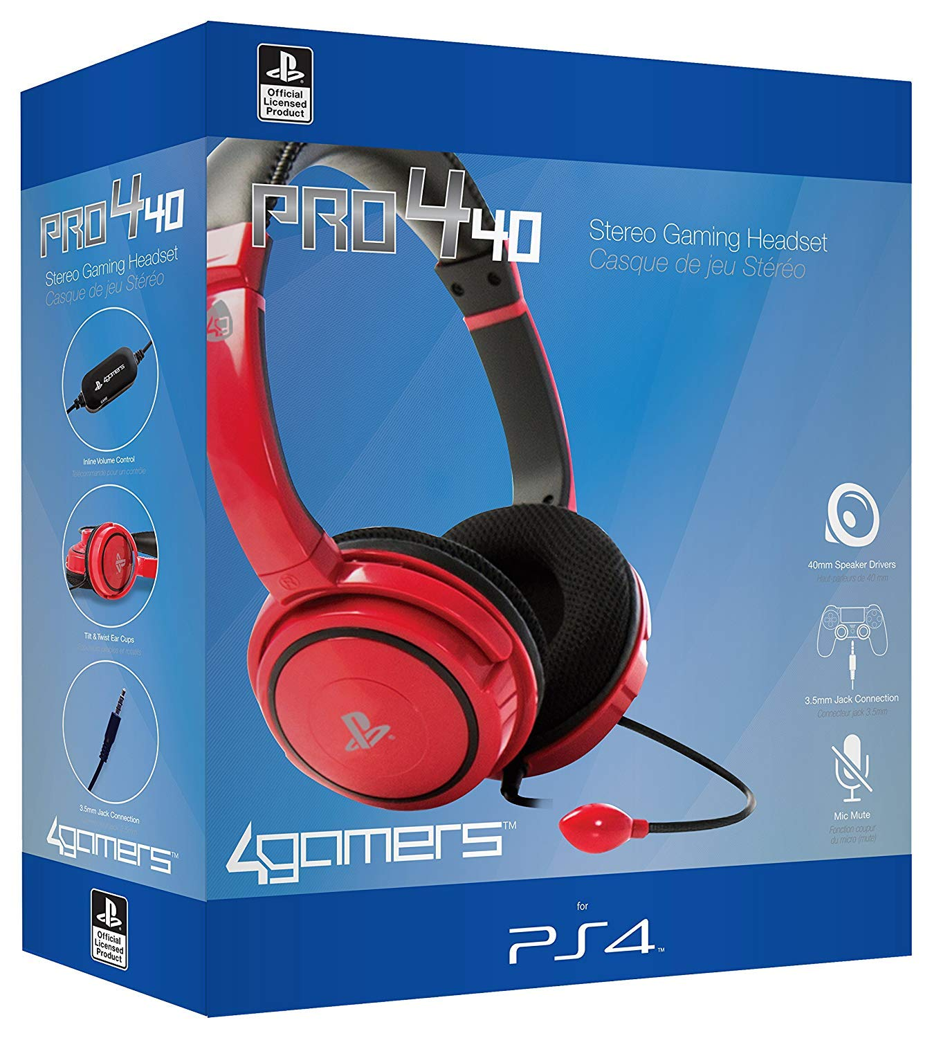 PRO4-10 Officially Licensed Stereo Gaming Headset - Red