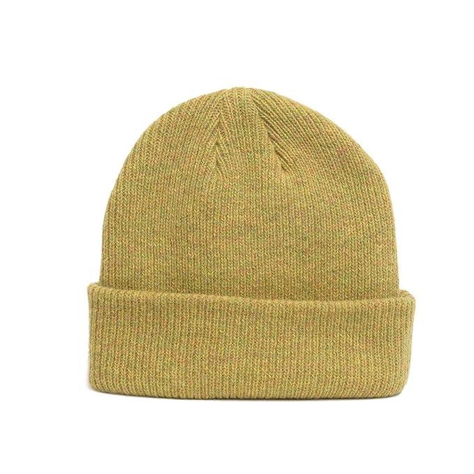 DELUSION MFG Merino Wool Blank Beanie - Mustard Yellow at Amazon ... 0275939a63f
