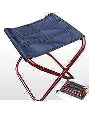 Lezed Silla portátil de aluminio plegable,Ultra-ligero portátil,Taburete plegable compacto,Silla de pesca deportiva,Calidad y estabilidad,Fácil de llevar (Rojo)