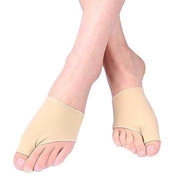 Juanetes apoyo manga, procogo 1 par funda de juanetes de nailon con construido en Gel Pad Pantalla para Hallux Valgus: Amazon.es: Deportes y aire libre