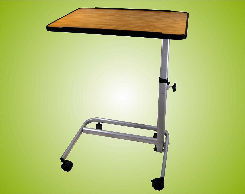 Beistelltisch Beistellwagen Krankentisch Bett-Tisch  braun fahrbar Top-Qualität