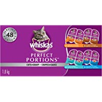 Whiskas Perfect Portions Food Trays for Cats - Chicken - Turkey - Salmon - Tuna - 75g (24 Pack)