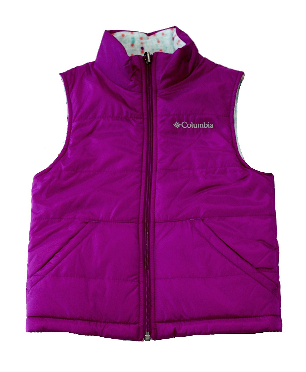 Columbia Youth Girls Ice Chips II Reversible Fleece Puffer Vest (XL 18) by Columbia
