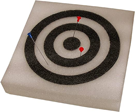 """Predator Foam Target 12/"""" X 12/"""" Square Black with White or White with Black"""