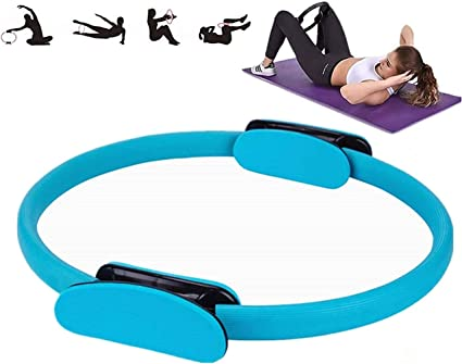 Amazing Tour Pilates Double Handle Ring Power Resistance Full Body Toing Fitness Circle,Body Building Training Home Grey High Resistance Fitness Ring for Toning Abs