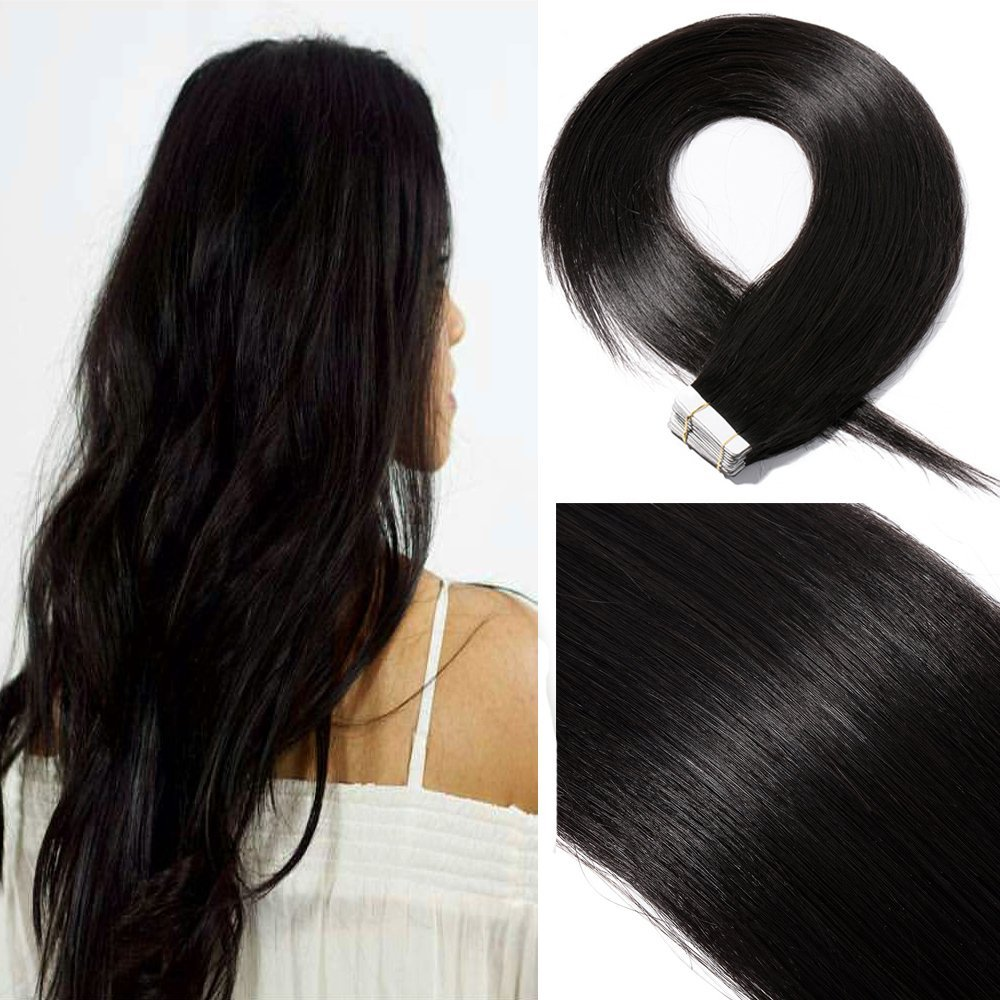 16 Inch 40pcs 100g Remy Tape in Hair Extensions Human Hair 99J Wine Red Straight Hair Seamless Skin Weft Invisible Double Sided Tape Burgundy … US Elailite Store