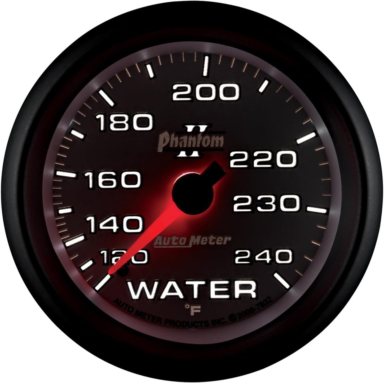 Auto Meter 6132 Cobalt 2-1//16 120-240 F Mechanical Water Temperature Gauge
