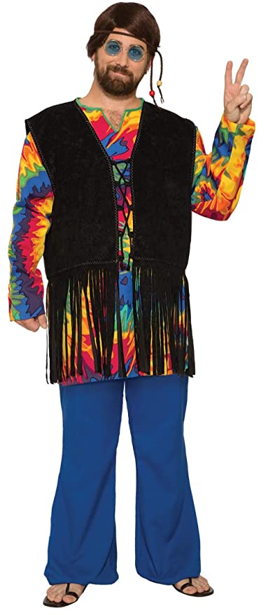60s , 70s Hippie Clothes for Men Forum Novelties - Hippie Tie Dye Dude Costume $46.99 AT vintagedancer.com