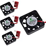 MakerHawk 4pcs 3D Printer Fan 12V 0.08A DC Mini Quiet Cooling Fan 40X40X10mm with 28cm Cable for 3D Printer, DVR,and Other Small Appliances Series Repair Replacement