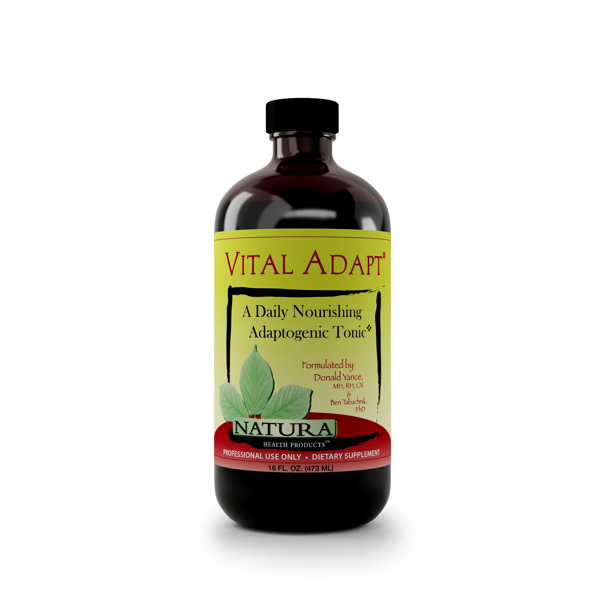 Vital Adapt Adrenal Support and Cortisol Support Manager Supplement by Natura Health Products - Natural Stress and Fatigue Relief with Ashwagandha and Rhodiola - 16 Fluid Ounces