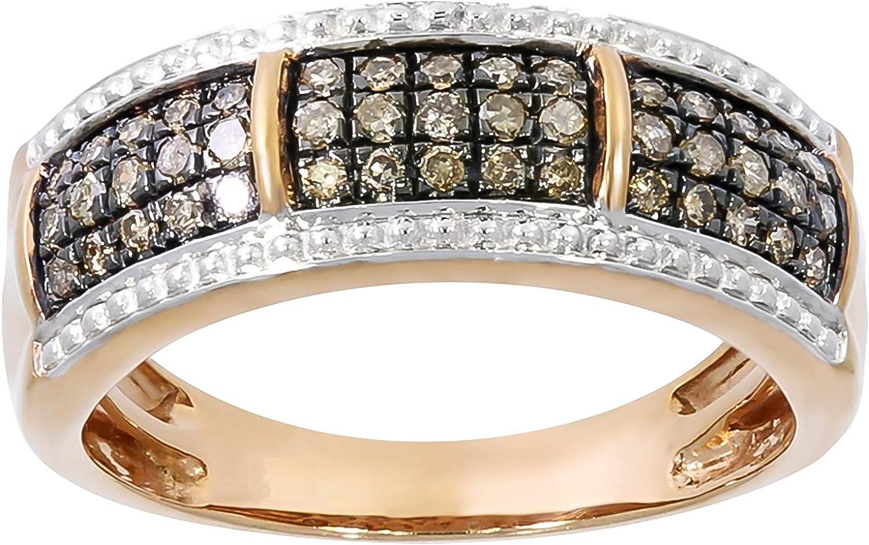 Goldenstar 0.05Ct Round Brilliant Cut Diamond Fancy Pendant 10k Gold