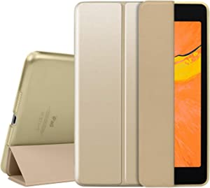 Utryit Case for iPad Mini 1 2 3 (Old Model), Smart Cover for iPad Mini, Mini 2, Mini 3 Slim Lightweight Smart Shell Stand Cover with Translucent Frosted Back Protector for iPad 7.9 Inch – Gold
