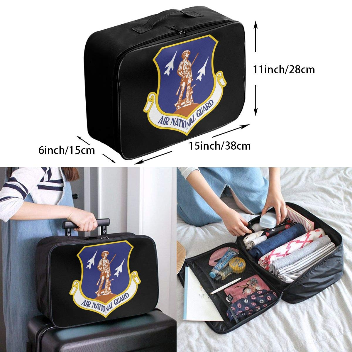 US Air National Guard Travel Bag Men Women 3D Print Pattern Gift Portable Waterproof Oxford Cloth Bags