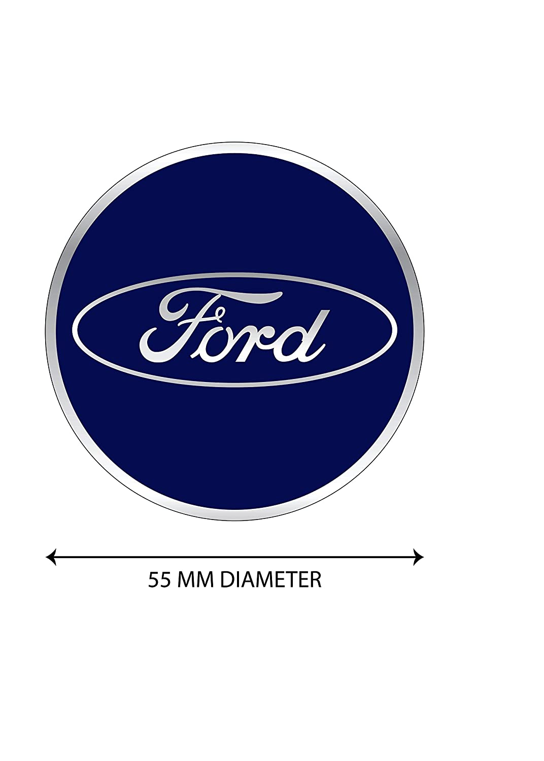 Amazon 4 x 55mm diameter ford wheel center cap sticker amazon 4 x 55mm diameter ford wheel center cap sticker emblem self adhesive for flat surfaces cheap price garden outdoor voltagebd Choice Image