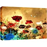 LARGE CHINESE CANVAS ART FLORAL PAINTING BOX CANVAS 30 X 20 INCHES READY TO HANG 3 cm frame by CANVAS INTERIORS