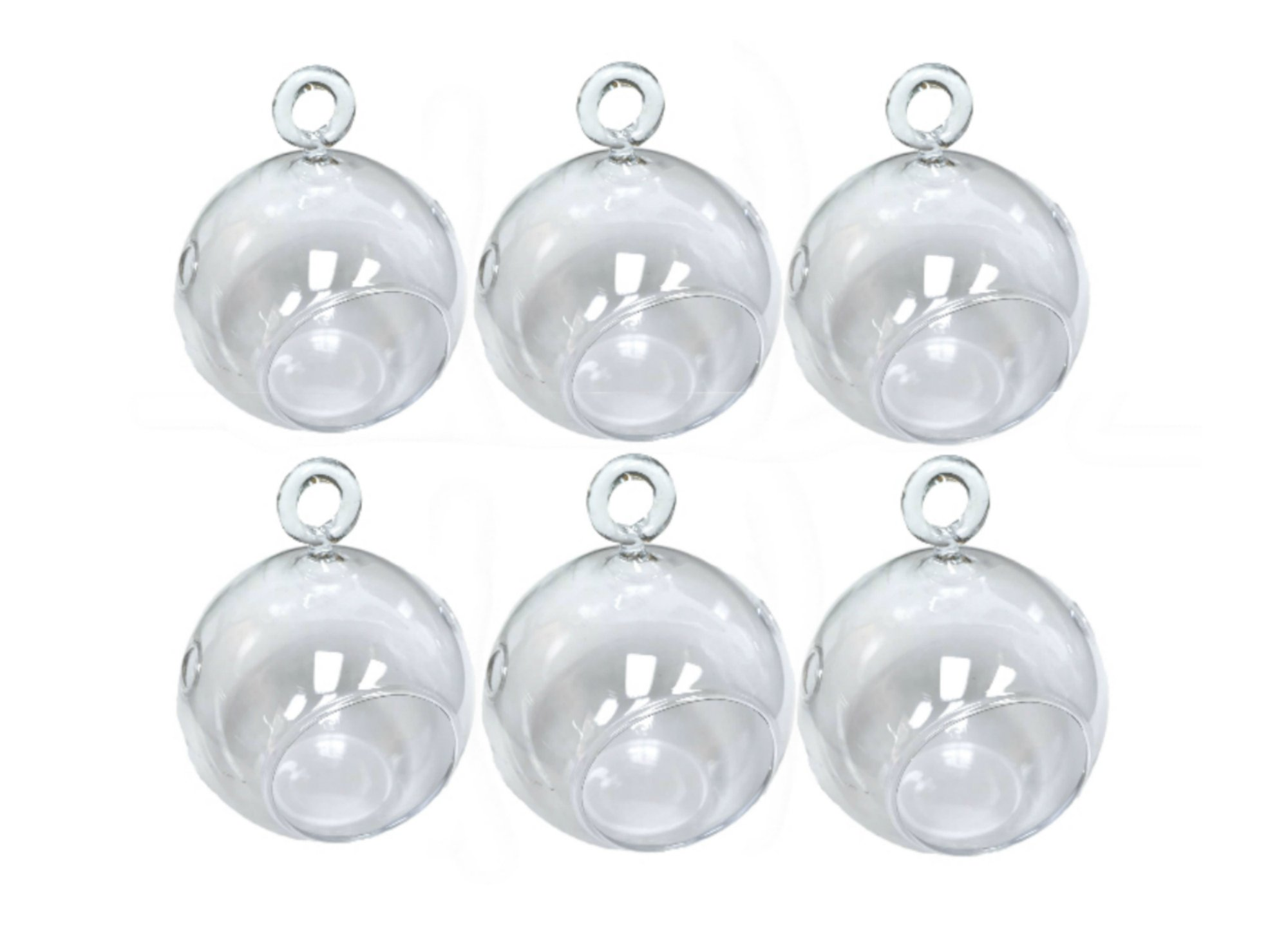 3'' Hanging Glass Globe Terrarium Candle Holder Bulk Sale Pack of 12