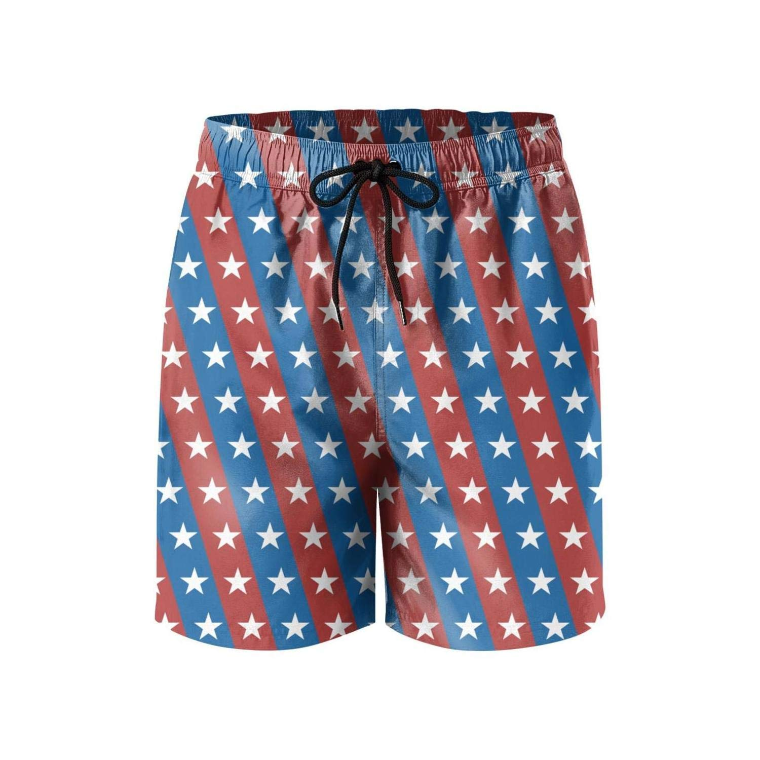 Star Vector Seamless Pattern Abstract 4th July Holiday Side Split Swim Mens Shorts Sporty Microfiber