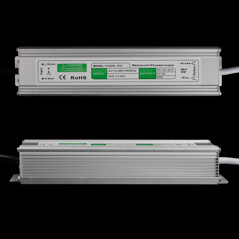 Adaptadores de corriente del conductor de la raya BAODE 10-200W DC 12V LED transformador transformador