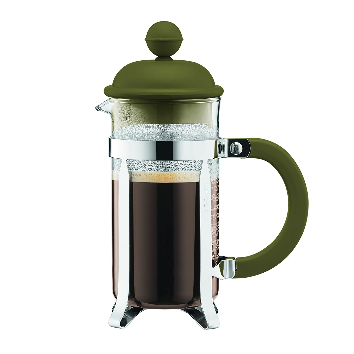 BODUM Caffettiera 3 Cup French Press Coffee Maker, Olive, 0.35 l, 12 oz 1913-947B-Y17