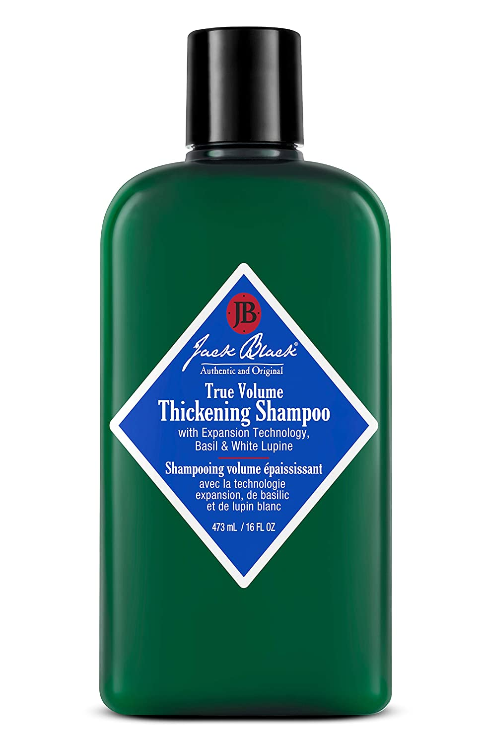 JACK BLACK – True Volume Thickening Shampoo – PureScience Formula, Expansion Technology, Basil & White Lupine, Sulfate-Free Shampoo,and Product Build-Up, Helps Thicken Hair, 16 Oz