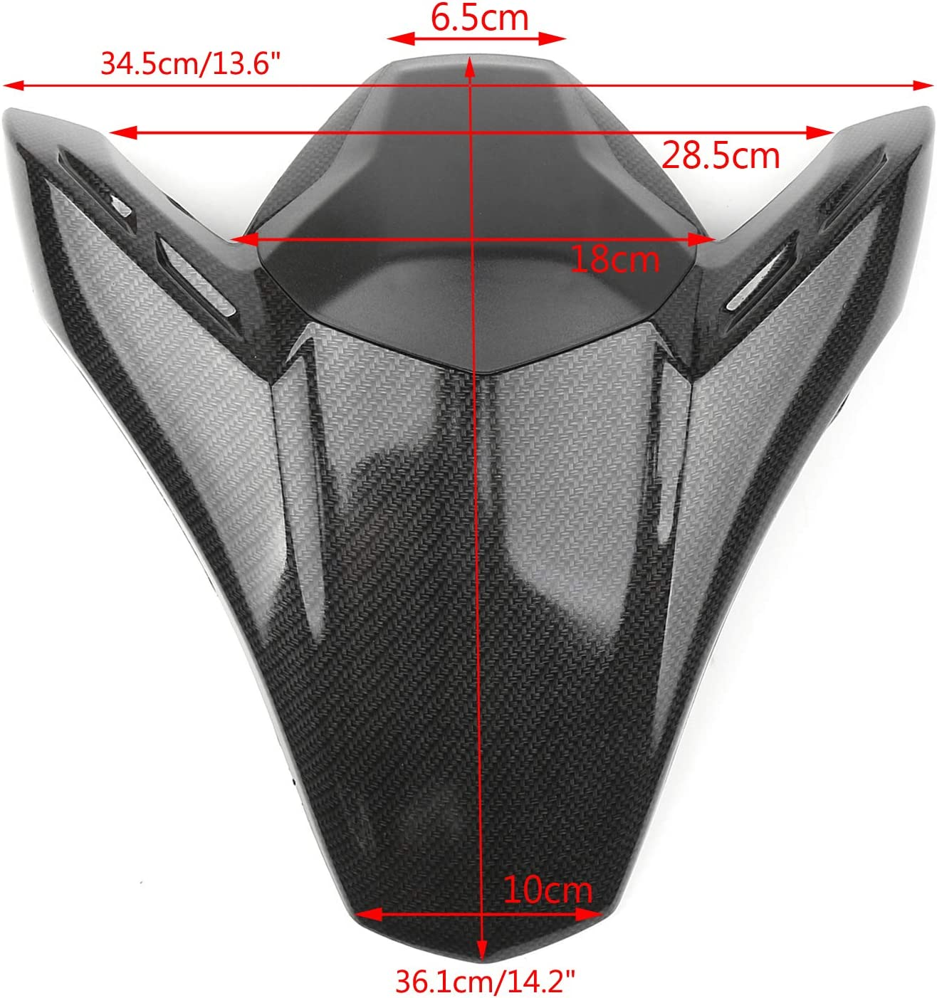 Areyourshop ABS Rear Seat Fairing Cover Cowl Fits for Z900 Z ABS 2017-2019 Gray