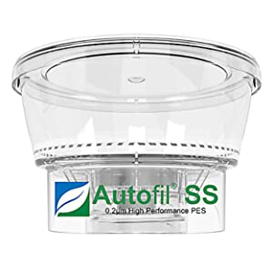Autofil Sterile Disposable Vacuum Bottle Top Filters with 0.2um Sterilizing PES Membrane, 500mL, 24/CS
