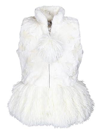 d094bef99 Amazon.com  Widgeon Baby Girls Shaggy Faux Fur Peplum Vest 3700 ...