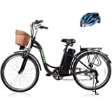 """26"""" 250W Cargo Electric Bicycle 6-Gear Speed Sporting Ebike 36V10A Lithium Battery -Class AAA(Black)"""