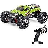 Vatos RC Ferngesteuertes Auto Monster Off Road RC Buggy High Speed 4WD 40km/h Im Maßstab 1:24 Fernbedienung 50M 30 Minuten Spieldauer 2.4GHz Elektro mit wiederaufladbaren Batterien und Akku VL-BG1510B-G
