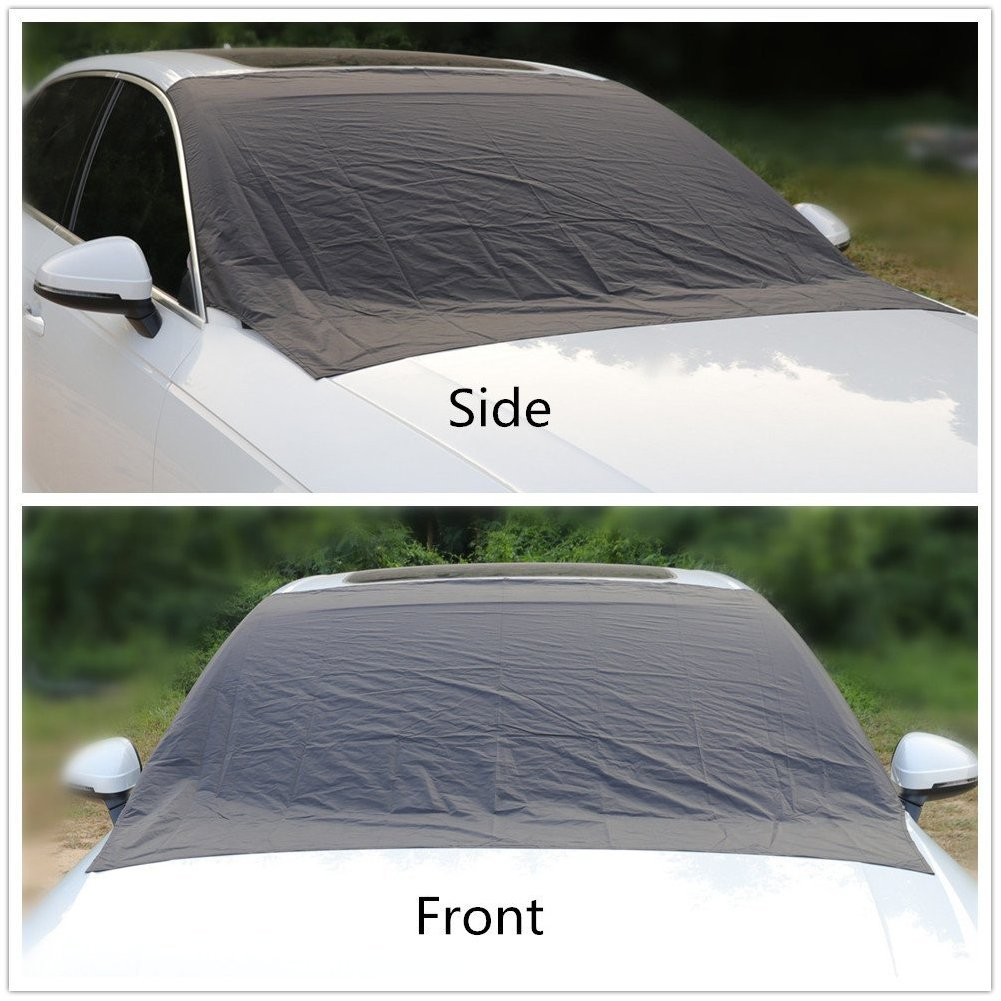 Van Truck SUV Alotm 84x50inches Magnetic Windshield Cover for Ice and Snow Frost Windshield Cover Waterproof Windproof Dustproof Outdoor Car Covers Fits Most Car Windshield Cover