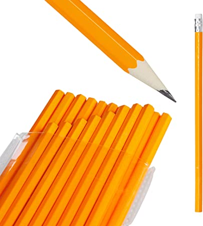 Relaxdays Set de 100 Lápices HB, Escolares, Kit Lapiceros con Gomas de Borrar, Madera, 18,5 x 0,5 x 0,5 cm, Naranja: Amazon.es: Hogar
