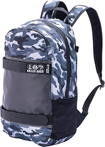 187 Killer Pads Standard Issue Backpack with Skateboard Straps