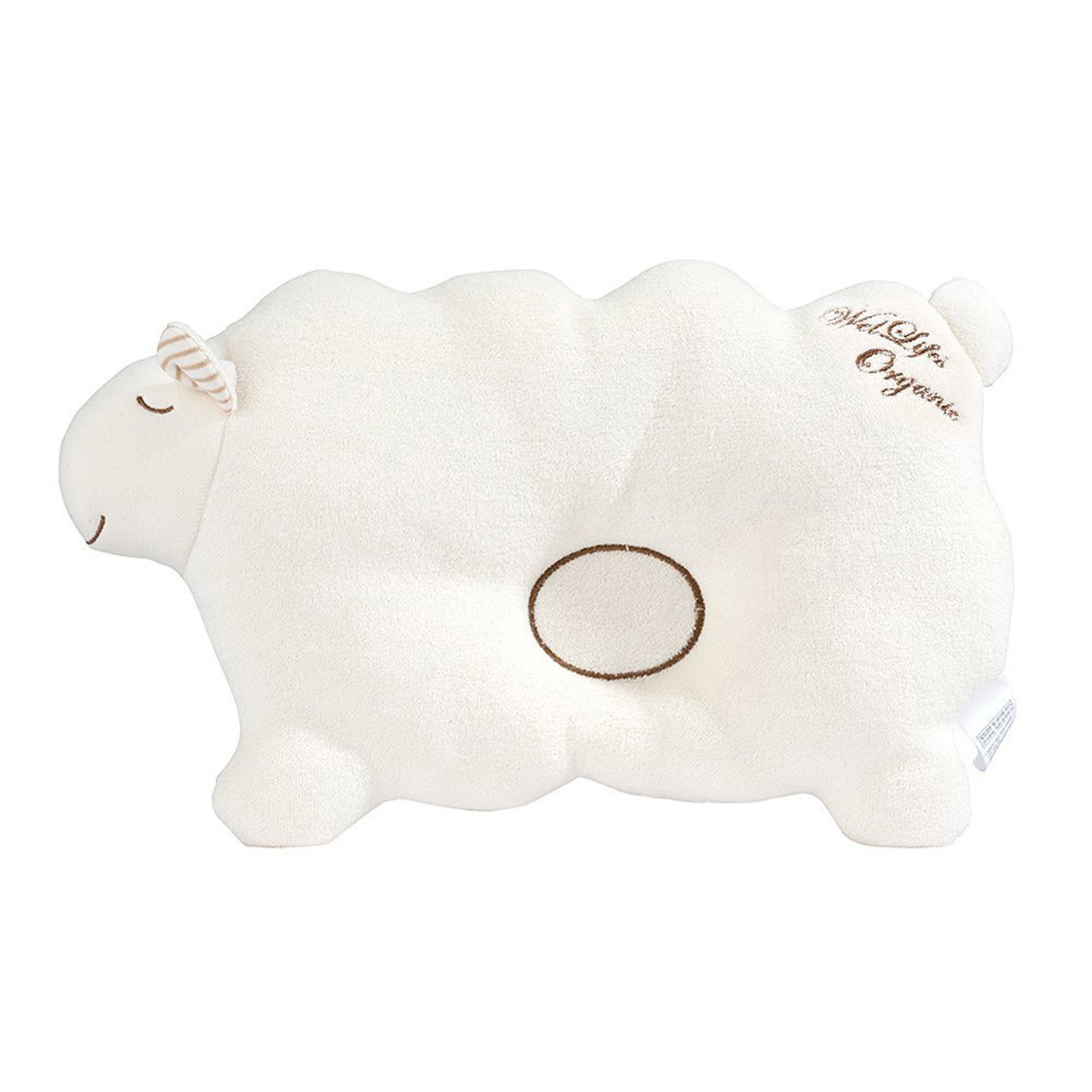 Baby Pillow for Newborn Organic Cotton to Prevent Flat Head (Lamb)