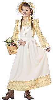 36eba6bfb82 Amazon.com  GRACEART Colonial Girls Dress Prairie Pioneer Costume ...