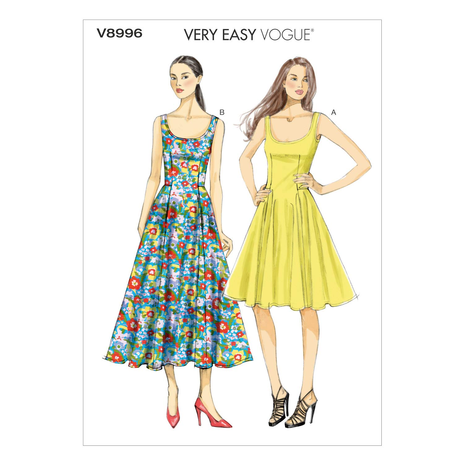 Vogue Patterns V8996 B5 - Patrones de costura para vestidos /(tallas ...