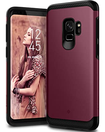 premium selection 9c930 44146 Caseology Legion for Galaxy S9 Case (2018) - Reinforced Protection -  Burgundy