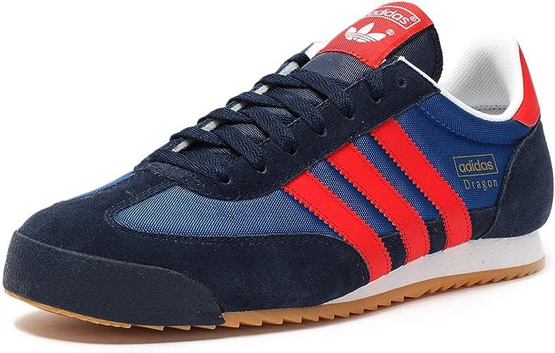 Cuna Aeródromo Químico  Adidas Dragon - B44295 - Color Navy Blue-Blue-Red - Size: 9.0:  Amazon.co.uk: Shoes & Bags