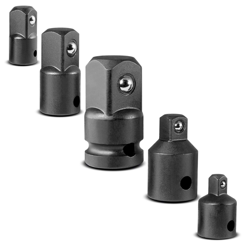 CARBYNE 5 Piece Impact Adapter and Reducer Set Chrome Vanadium Steel