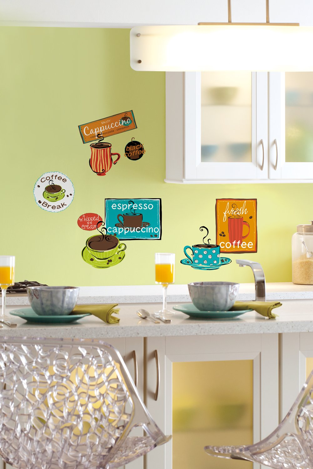 ROOMMATES RMK1740SCS Café Peel and Stick Wall Decals - Decorative ...