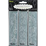 Darice Carpetas de estampación, Plantilla Ribetes florecientes, Plastic, 3,5 x 14,5 cm