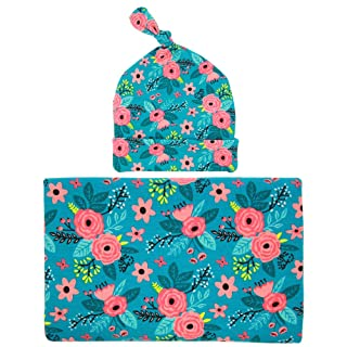 Baby Wrapped Cloth Hat Set Printing Package Blanket For Newborn Baby