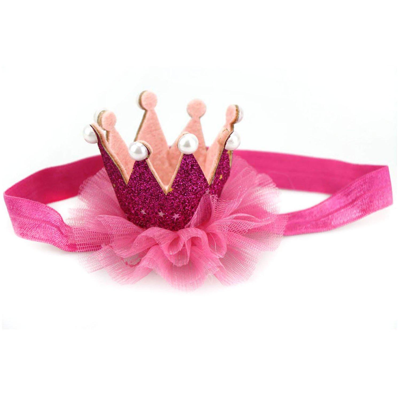 TININNA Gioielli per capelli ,fascia per capelli,fascia dei capelli di cristallo per bambini Crown Princess neonata di luccichio della perla della parte superiore Hairband-oro 2#